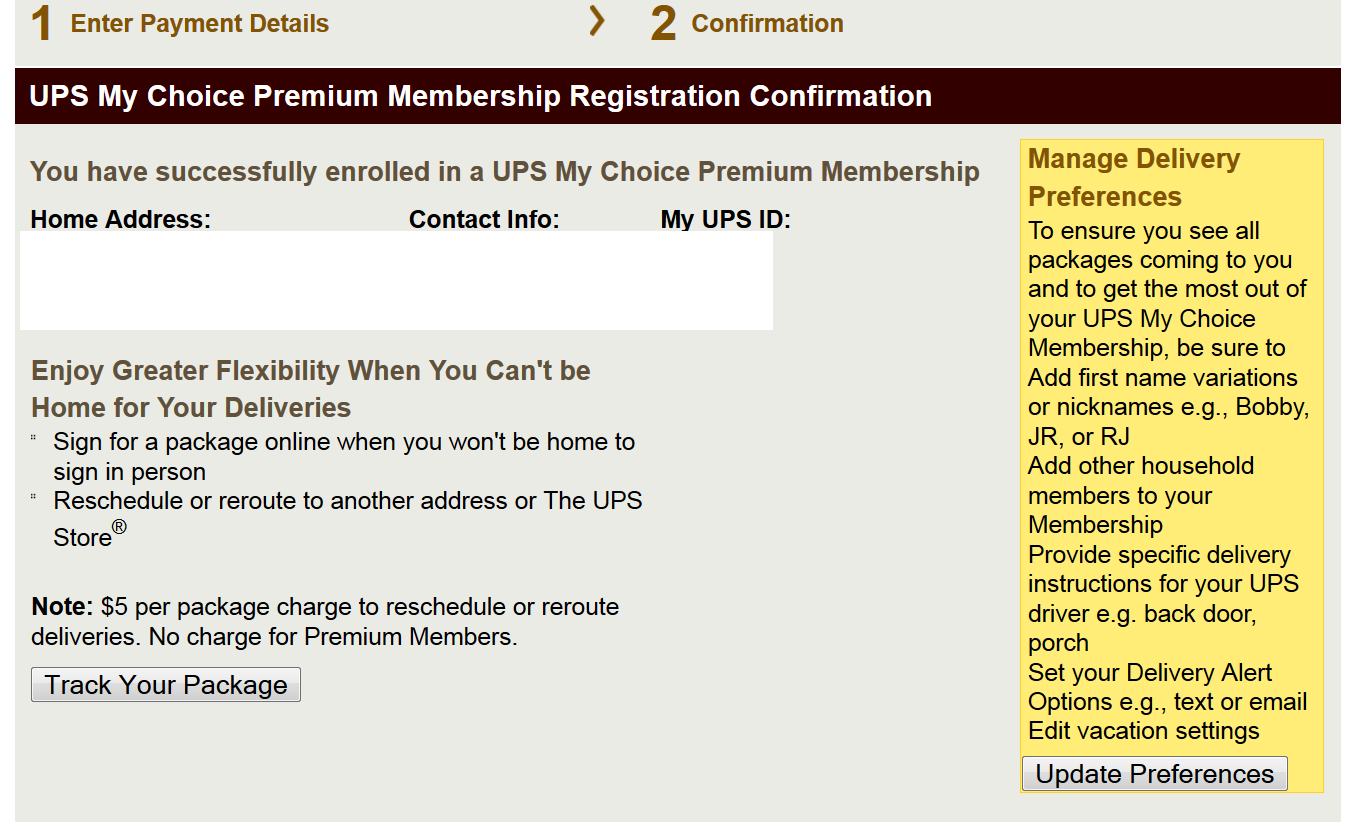 Get 6 Months Of Ups My Choice Premium Membership For Free