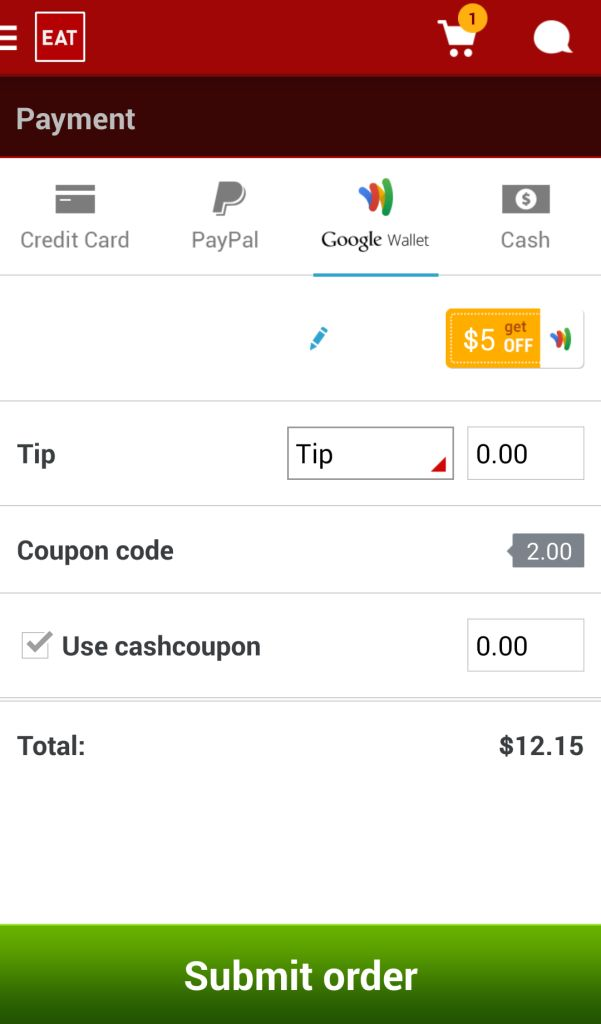Eat24 Coupon $7
