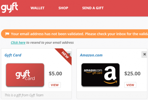 $40 In Gift Cards (Good For Amazon, Home Depot, Starbucks