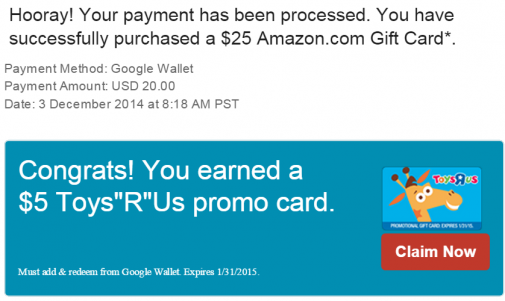 how to add google express promo card to target order