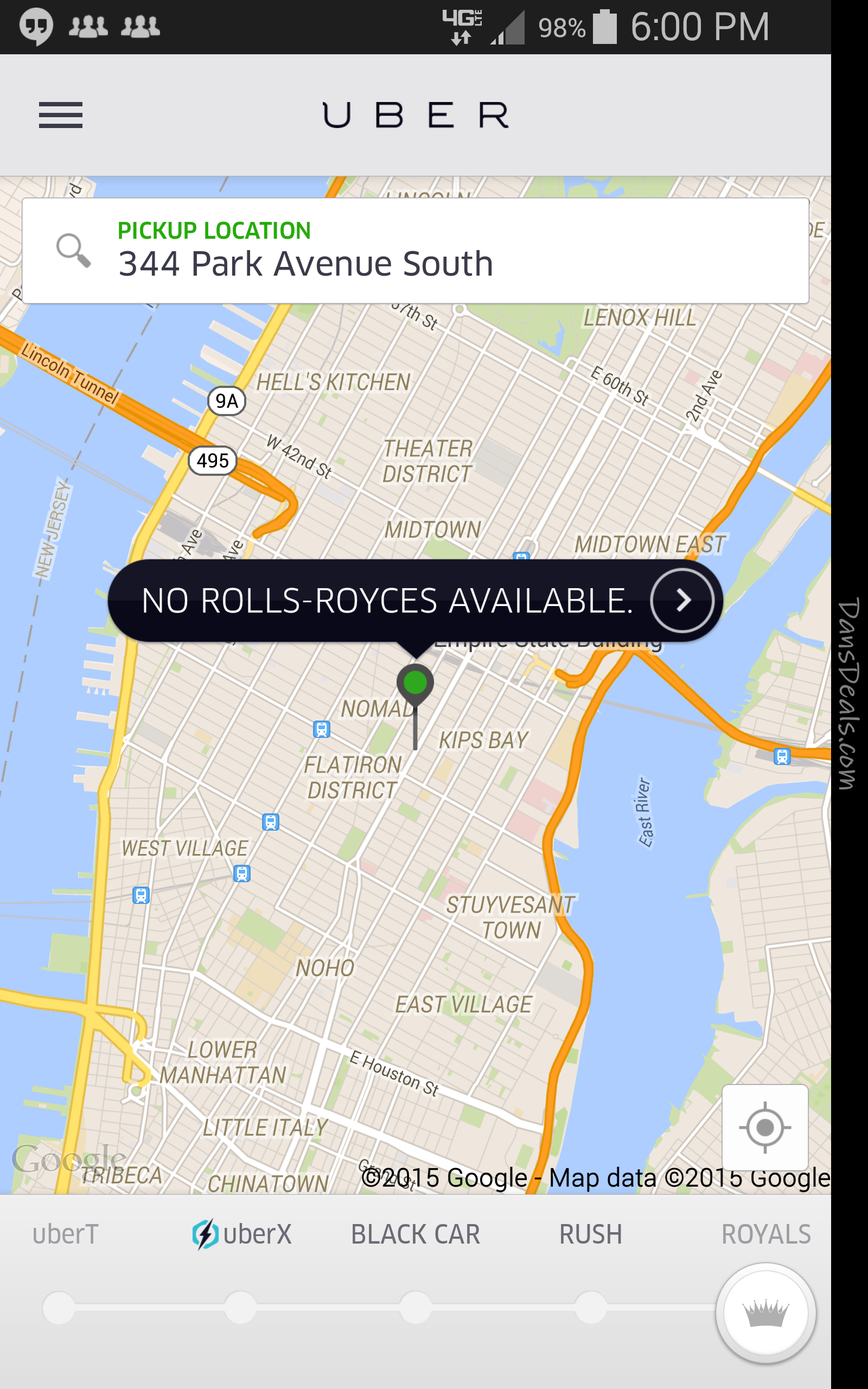 Try For A Free Ride In A Rolls Royce With Uber In Manhattan Or Los - Uberpool los angeles map