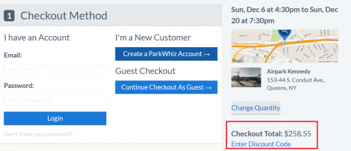 Park whiz coupon code