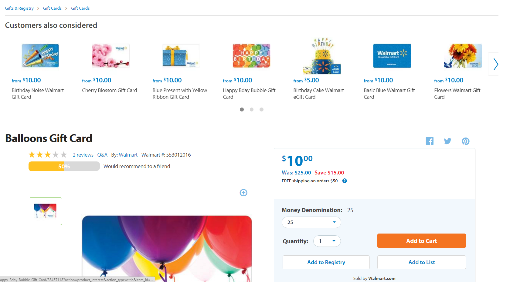 Price Mistake? $25 Walmart Gift Card For Just $10! - DansDeals.com