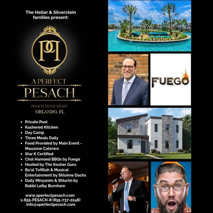 Pesach 2019 Done Right In Orlando, Florida, Villa Style  A Perfect