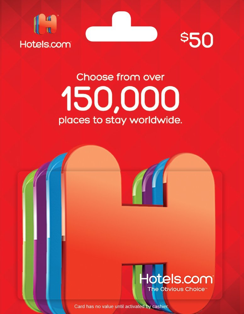 Amazon Lightning Deal: $50 Hotels.com Gift Card For $40 - DansDeals.com