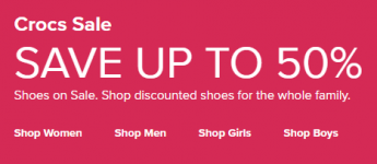 c24e2d0d7 Save Up To 50% On Select Crocs Plus Receive An Additional 25% Off. Crocs  Clogs From Just  11.24