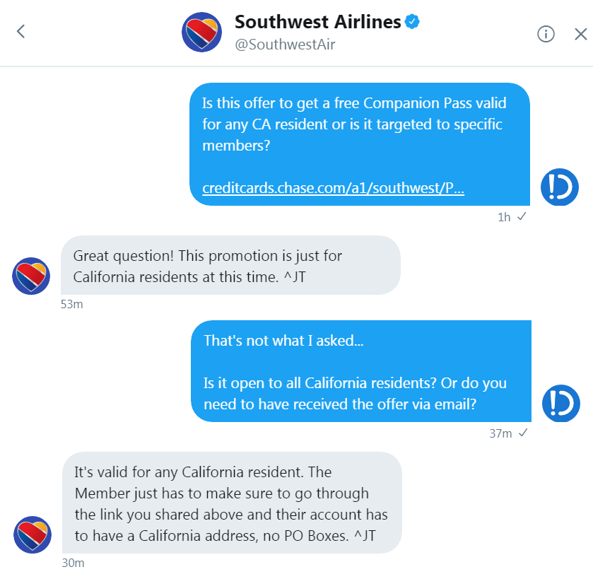 Getting the Southwest Companion Pass via Credit Cards Just