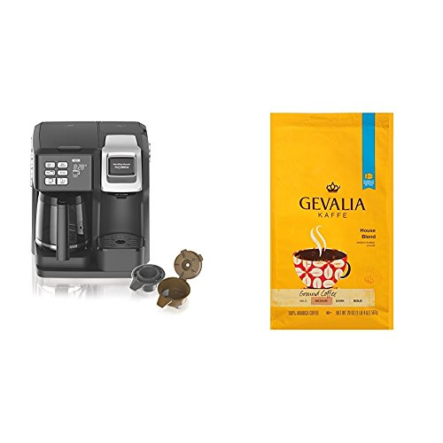 Today Only: Hamilton Beach FlexBrew Programmable Coffee Maker & GEVALIA Medium Roast House Blend ...