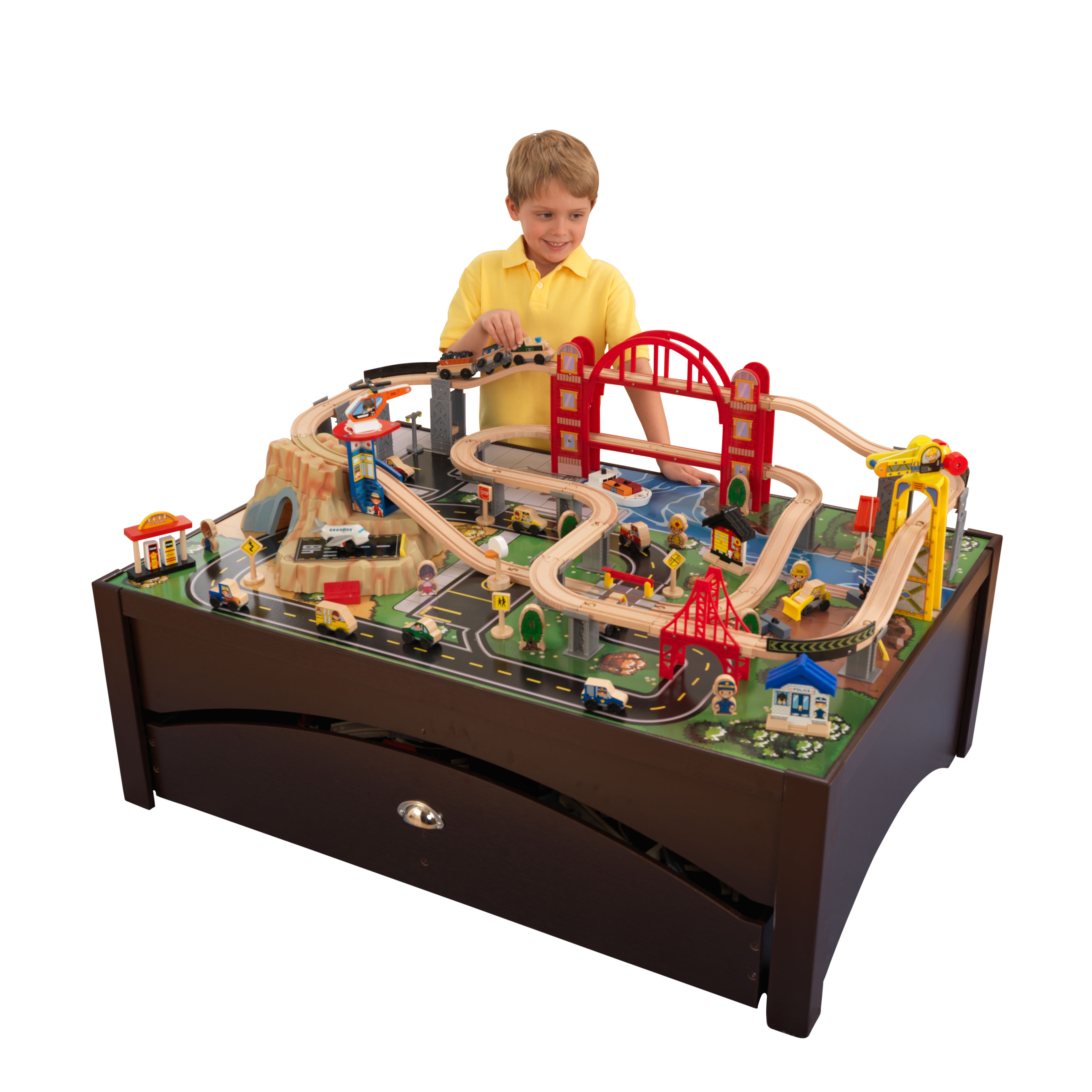 KidKraft Metropolis Train Set & Table With 100 Accessories For ...