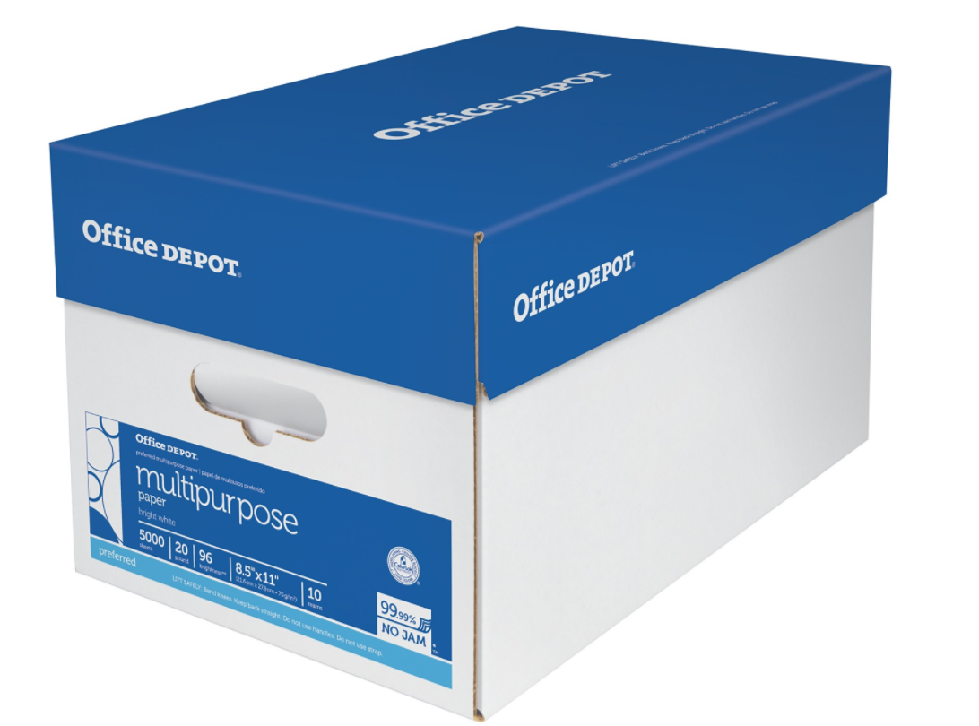 Buy An Office Depot Case Of 5 000 Sheets Multipurpose Paper For