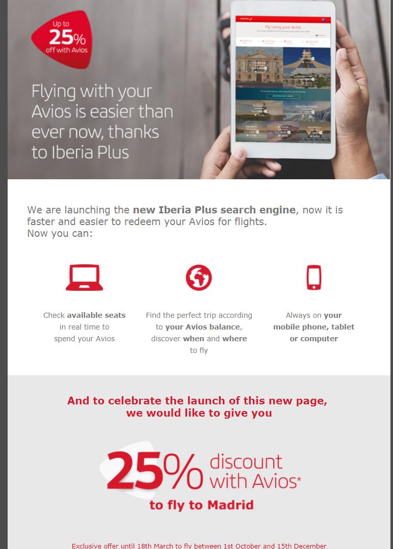 25% Off Iberia Award Flights To Madrid; JFK To Madrid For 25K Avios ...