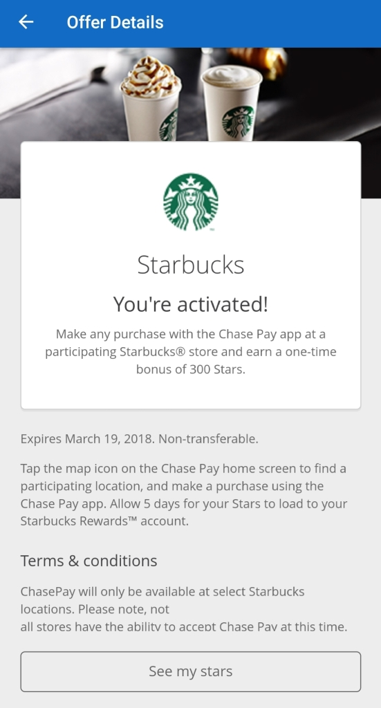 Starbucks Free Drink Any Size