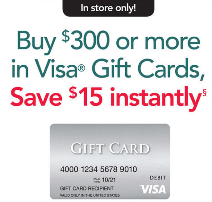 Get 15 Off 300 Of Visa Gift Cards From Office Max Or Office Depot