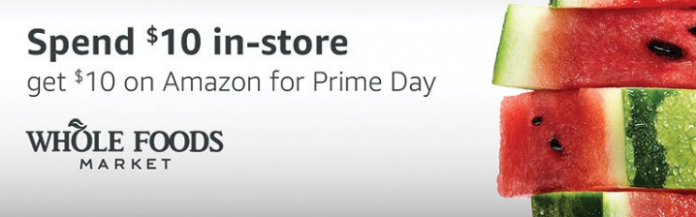 Prime Members: Spend $10 At Whole Foods And Get $10 In Amazon Credit