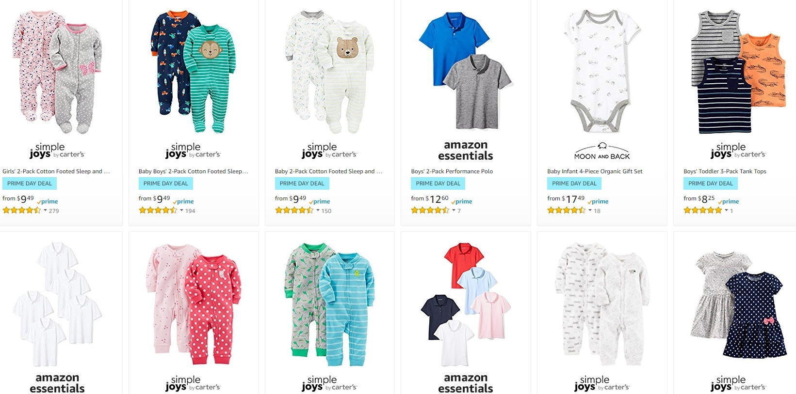 Save Up To 50 On Kids Clothing From Amazon After Prime