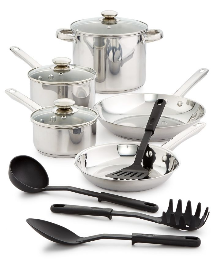 Macy S Kitchen Clearance Sale Bella 12 Piece Stainless Steel Cookware Set For 15 06 And More Dansdeals Com