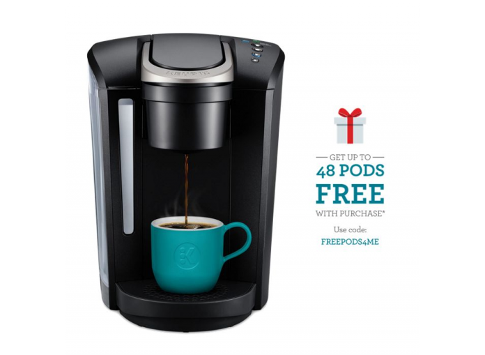 Keurig K Select K Cup Pod Single Serve Coffee Brewer And 48 K Cups