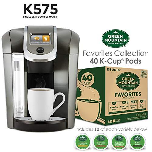 Keurig K575 Platinum Single Serve K Cup Pod Coffee Maker And 40