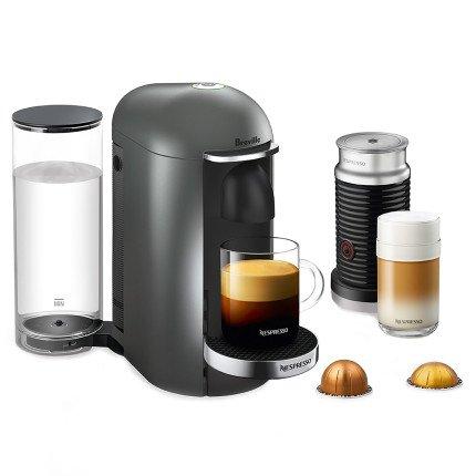 nespresso vertuoplus deluxe coffee espresso machine with aeroccino milk frother by breville for. Black Bedroom Furniture Sets. Home Design Ideas