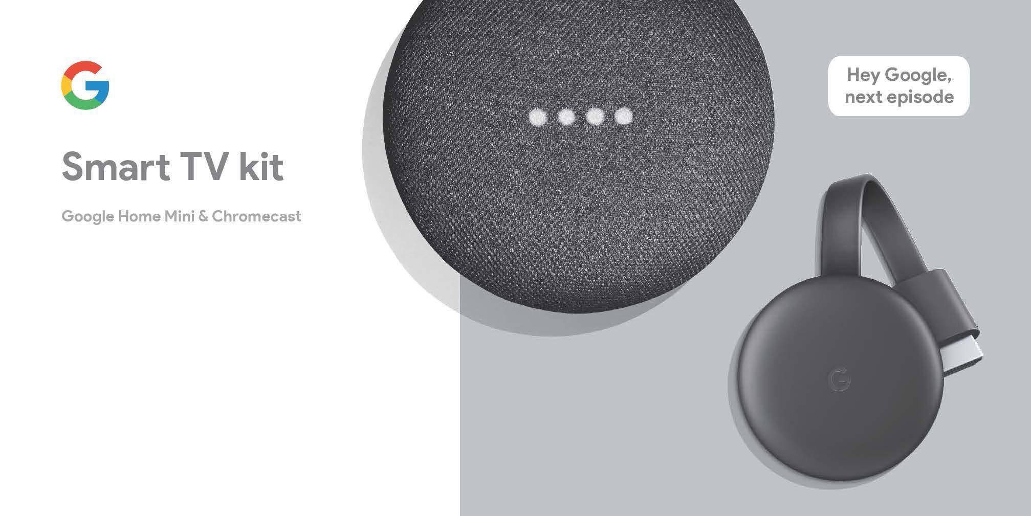 Google Smart TV Kit: Google Home Mini And 3rd Gen Chromecast