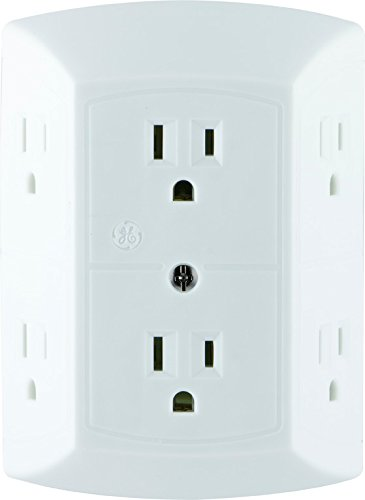 Ge 6 Outlet Wall Plug Power Strip For 3 83 Shipped From