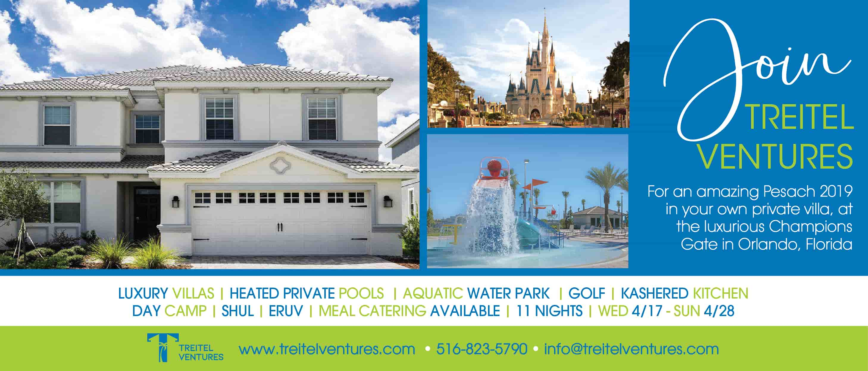 Luxury Villas Pesach 2019 In Champions Gate, Orlando, FL