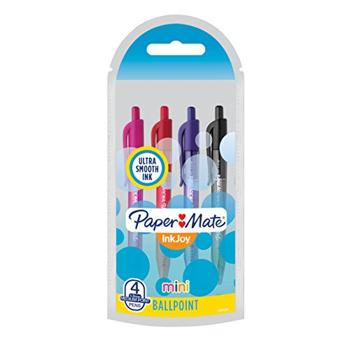 4 pack of paper mate inkjoy mini retractable ballpoint pens for