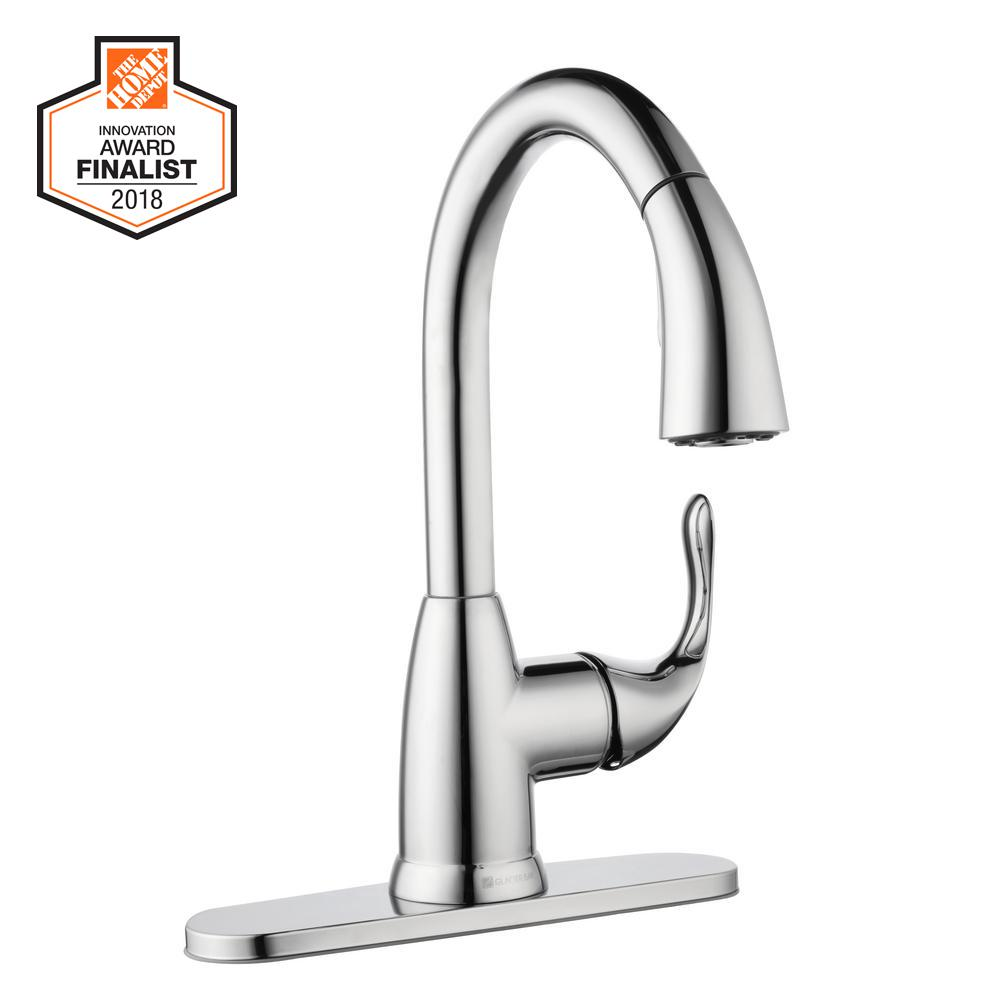 Today Only Glacier Bay Kitchen Pull Down Sprayer Faucet For 47 88