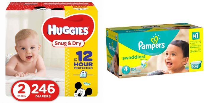 Save On Pampers And Huggies Diapers From Amazon After Coupon And