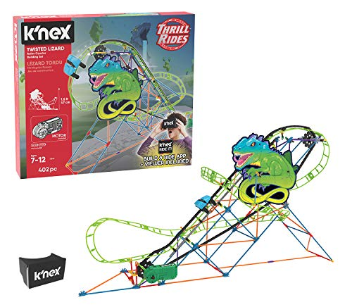 K Nex Thrill Rides Twisted Lizard Roller Coaster 403 Piece Building Set With Ride It App Now Just 9 96 From Amazon Dansdeals Com