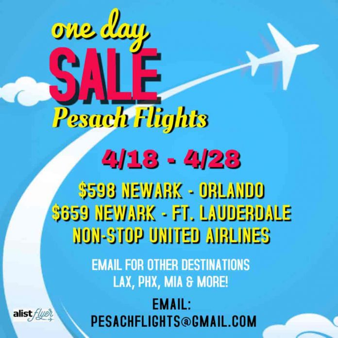 low priced 07f8b 5d763 Still Need Flights To Miami Or Orlando For Pesach  Get Non-Stop Flights On  United From NYC On Sale Today Only Exclusively For DansDeals Readers!