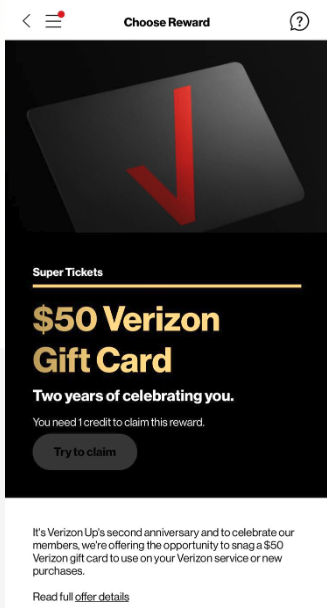Verizon Up Rewards Members: Check Your Account For A Free