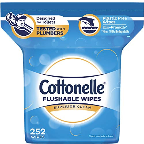 Tub Kleenex Cottonelle Fresh Care Flushable Cleansing 504 Cloths Moist Wipes