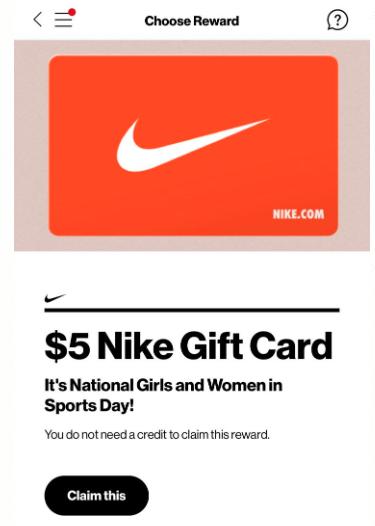 nike gift card free